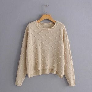 Goodnight Macaroon textured crew neck sweater